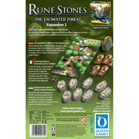 Graphic of back of Rune Stones - Expansion 2 game box.