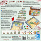 Graphic of back of Zen Garden game box.