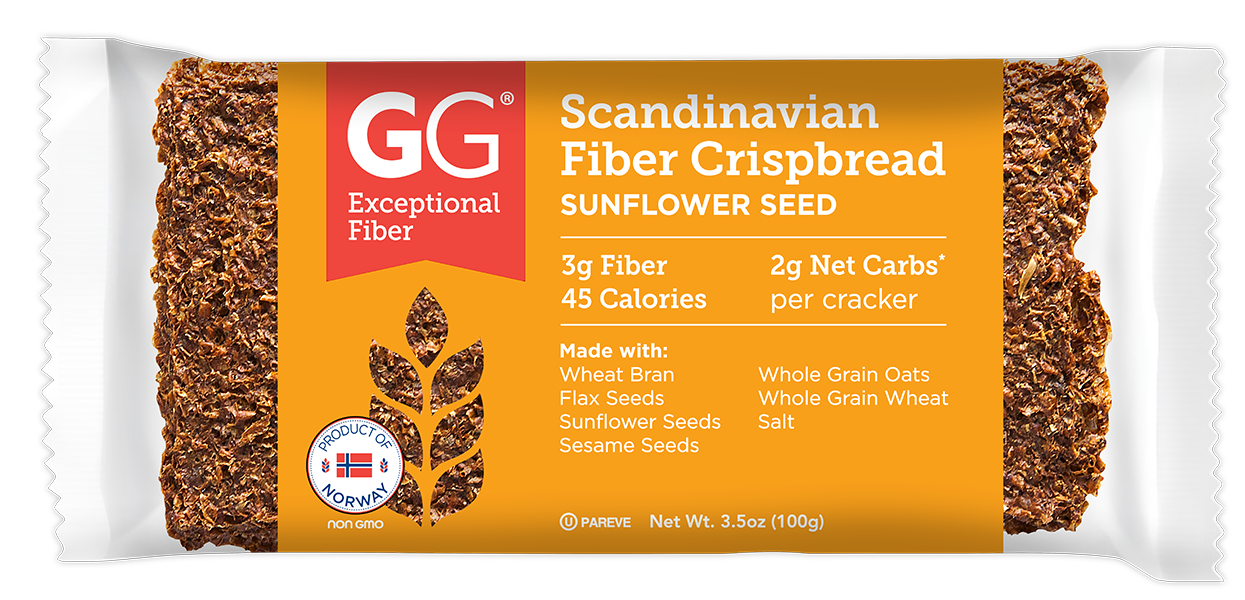 GG Scandinavian Fiber Crispbread Sunflower Seeds Thins