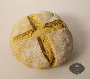 Corn flour bread cross pattern