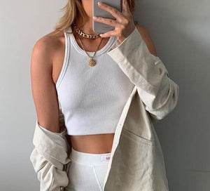 "Crop top Basic ""Louane"""