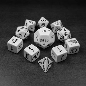 Music Dice Set for D&D