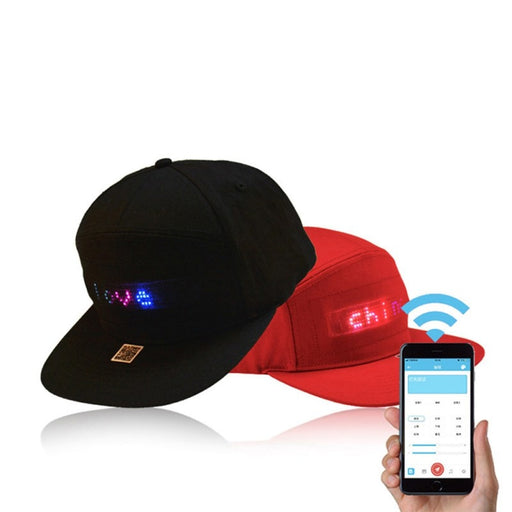 LED Display Cap (Smartphone App Controlled Edit Text)