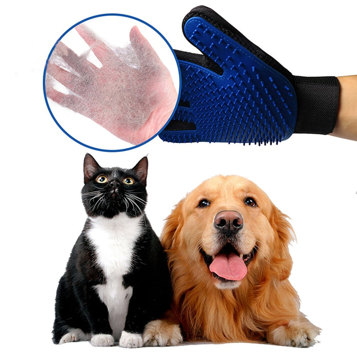 Pet Grooming Gloves  (Shedding, Bathing, & Hair Remover)