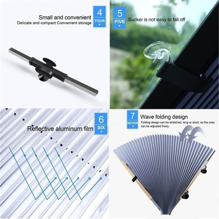 Retractable Anti-UV Car Window Shade