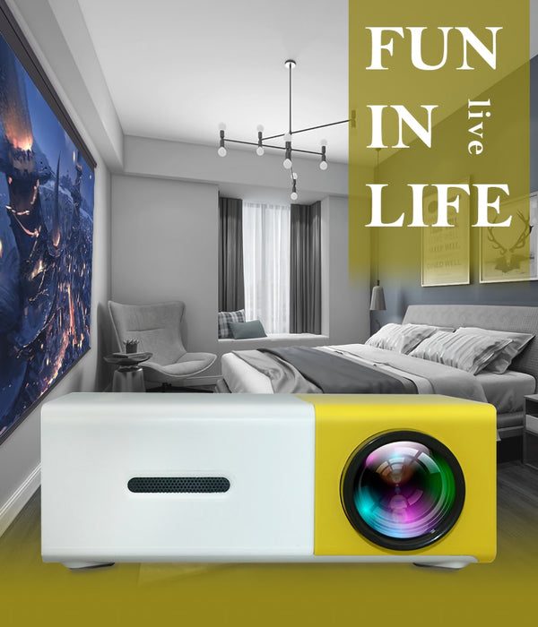 LED Mini Portable Projector  1080P