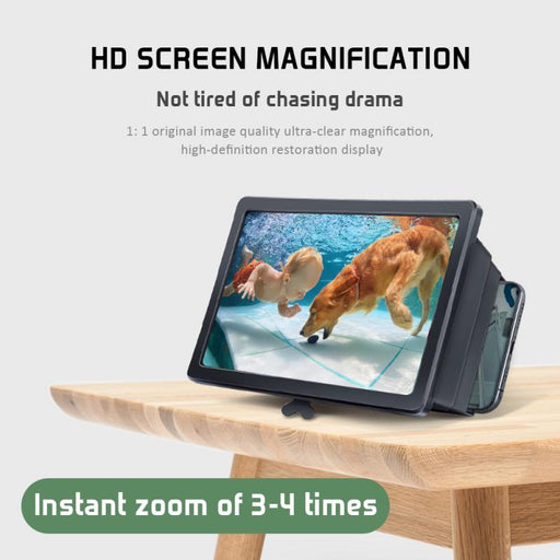 Portable 3D Video Screen Magnifier for Every Mobile Phones