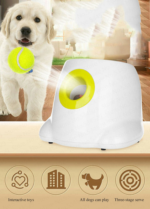 Automatic Interactive Dog Tennis Ball Launcher Throwing Machine