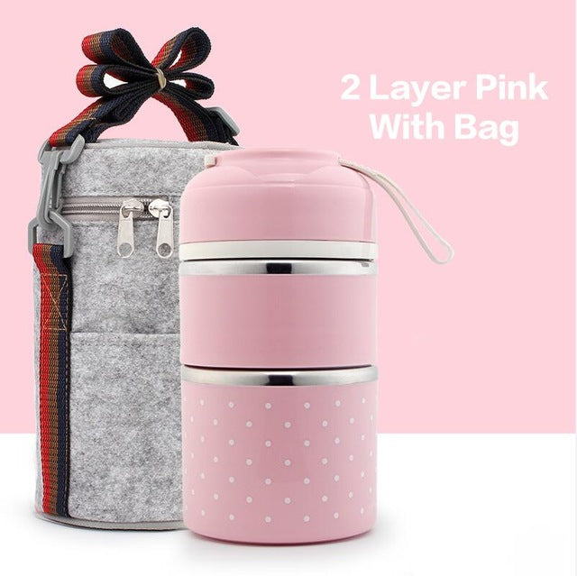 Portable and  Stainless Steel , Kids Lunch Box