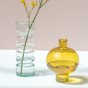 Vase recyclé verre transparent