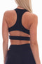 Side Cut-out Sports Bra Series (Black)