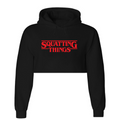 SQUATTING THINGS Crop Top/Hoodie
