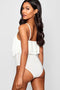 Double Layer White Frill Bodysuit