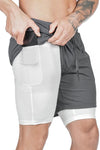 Pro Training Shorts Security Pockets & Towel Loop (Grey)