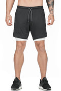 Pro Training Shorts Security Pockets & Towel Loop (White)