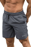 Round Hem Men's Shorts (Grey)