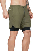 Pro Training Shorts Security Pockets & Towel Loop Black