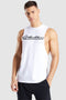 Back Stripe Drop Arm Tank(White)