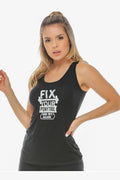 Fix Your Pony Tail Tank(Black)