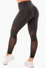 SCRUNCH BUM MESH LEGGINGS Classic Black