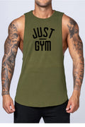 Just Gym Drop Arm Tank(White)