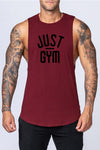 Just Gym Drop Arm Tank(Maroon)
