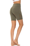 Pocket Panel Mesh Design Shorts Olive