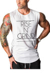 Rise N Grind Gym Drop Arm Tank(White)
