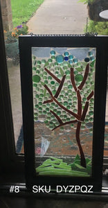 "Glass tree art ""Mama's Trees"""