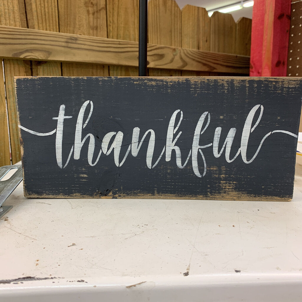 Thankful sign (Blk)