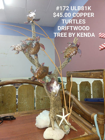 Copper turtle Driftwood tree