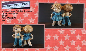 "#0424 - Vintage hand painted ""Dancers"" by Atlanta Mold"