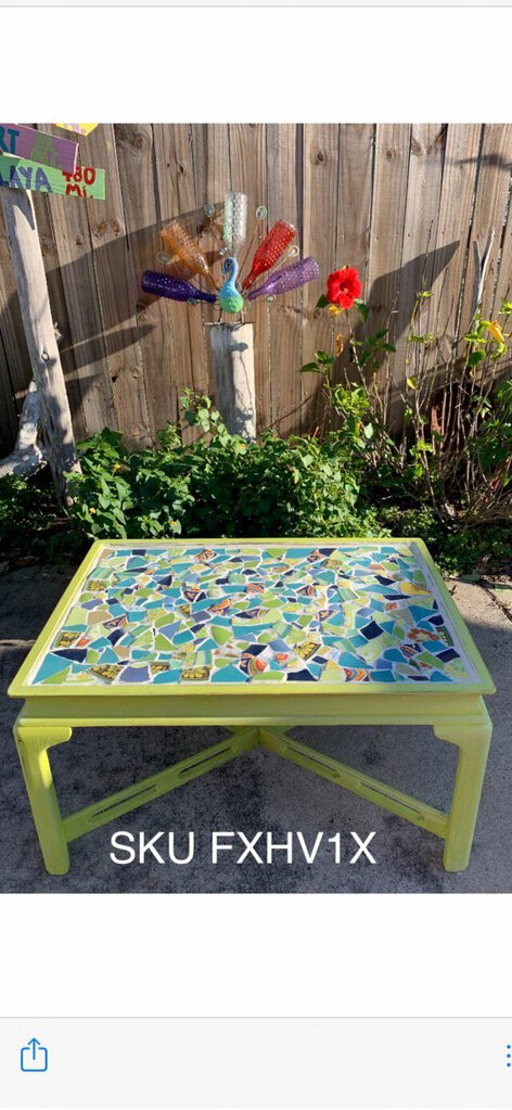 Pique Assiette Mosaic table handcrafted