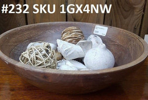 Rnd Wood Bowl - New