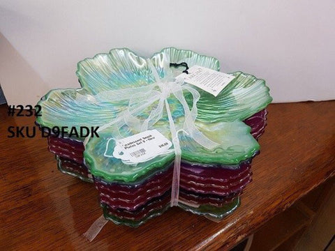 Incadescent Snack Plates Set 8 - New
