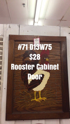 Repurposed Rooster Cabinet Door