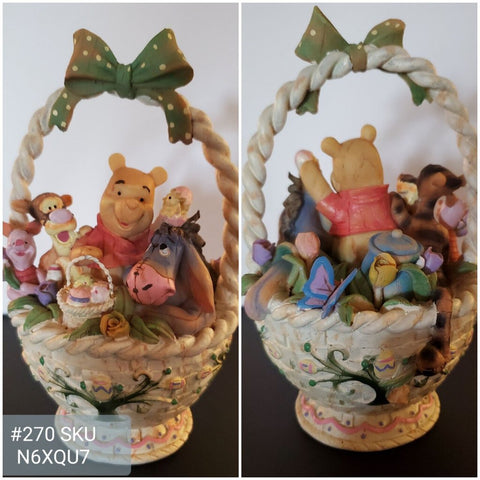 Roman Inc DIsney Pooh and Friends Woodland Friends Basket Never Displayed