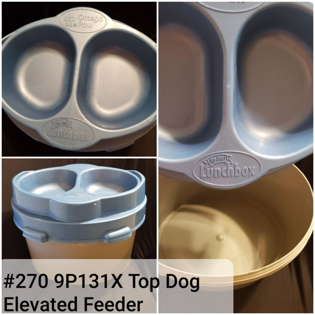 Omega Paw Top Dog Lunch Box Elevated Feeder