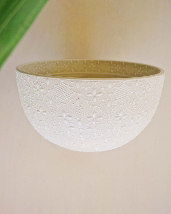 white ceramic bowl made in mexico