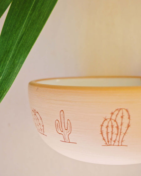 Desert Cacti ceramic Bowl