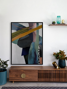 High Fidelity Framed Canvas Print 75 x 100