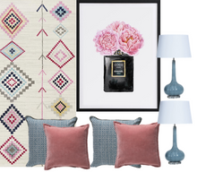 Load image into Gallery viewer, Pink and blue bedroom decor pack