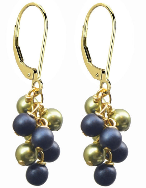 Wholesale Large Gold Filled Swarovski Pearl & Czeck Glass Cascade Earrings