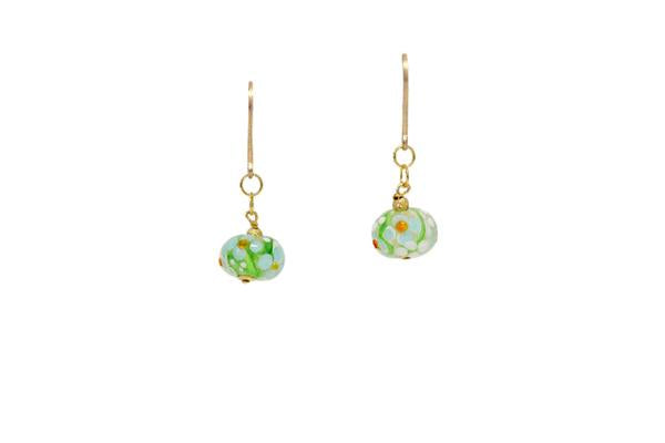 14/20 Gold Filled Single Drop Lampwork Earring By Minigems