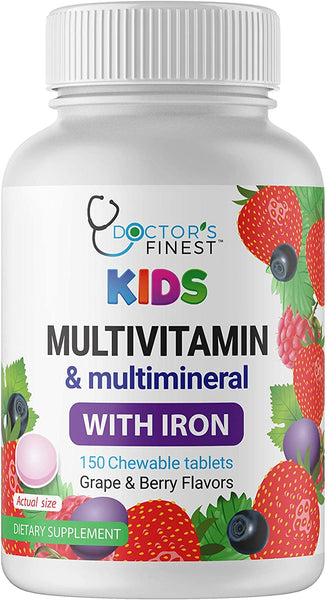 Doctors Finest Kids Chewable Multivitamin 150 count