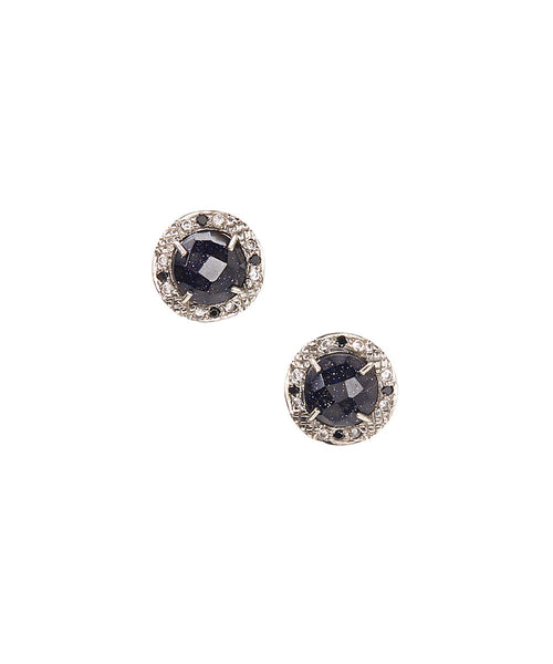 15mm Sterling Silver Halo Bezel Stud Earrings