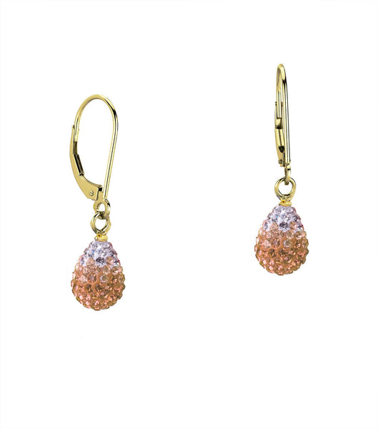 14/20 Gold Filled Shamballa Gradient Teardrop Earring By Minigems