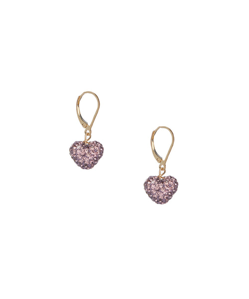 Shamballa Hearts on Gold Filled Earrings