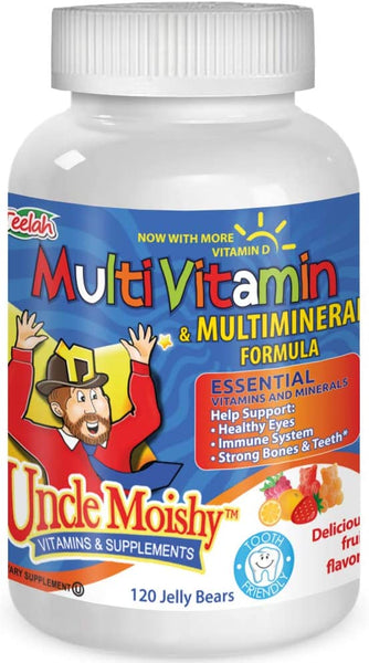 Uncle Moishy Multi Vitamin 120 Count