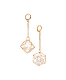 Caged Glass Statement Earrings